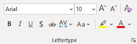 Wist je dat? Het lettertype gedeelte in bijvoorbeeld PowerPoint.